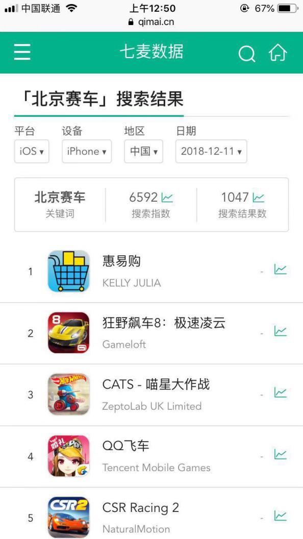 七麦数据搜索app排名